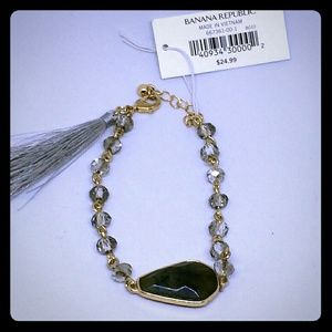 BANANA REPUBLIC Precious Stone & Tassel Bracelet